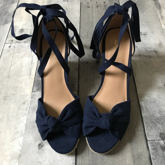 9a345604ea71 Apt. 9 Shoes - Apt. 9 Cheery Women s Wedge Sandals in Blue - 15
